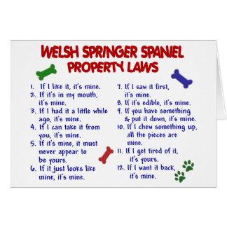 WELSH SPRINGER SPANIEL Property Laws 2 Card