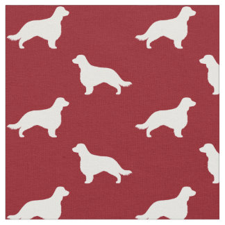 Welsh Springer Spaniel Silhouettes with Long Tail Fabric