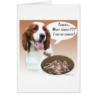 Welsh Springer Spaniel Turkey Card