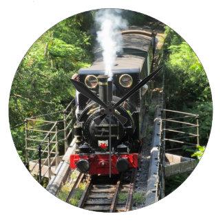 Welsh Steam Train. Large Clock
