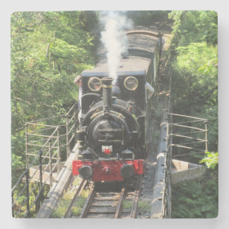 Welsh Steam Train. Stone Coaster