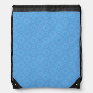 Welsh Tapestry Pattern, Blue Drawstring Backpack