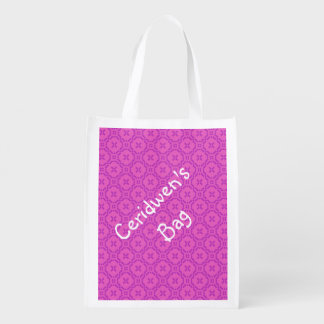 Welsh Tapestry Pattern, Pink Reusable Shopping Bag