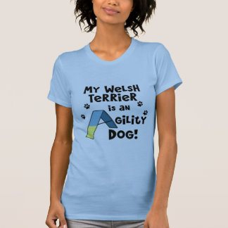 Welsh Terrier Agility Dog Ladies T-Shirt