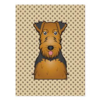Welsh Terrier Cartoon Postcard