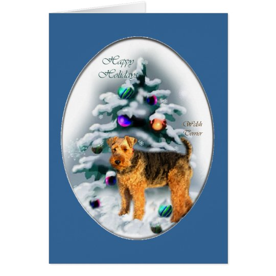 Welsh Terrier Christmas Gifts Card
