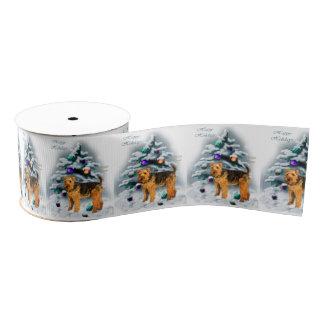 Welsh Terrier Christmas Grosgrain Ribbon