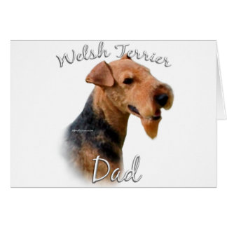Welsh Terrier Dad 2 Card