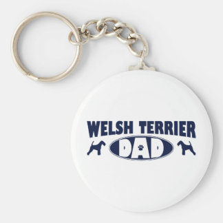 Welsh Terrier Dad Basic Round Button Key Ring