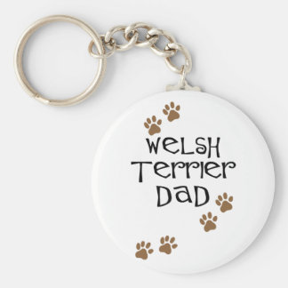 Welsh Terrier Dad for Welsh Terrier Dog Dads Basic Round Button Key Ring