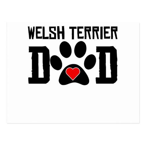 Welsh Terrier Dad Postcard