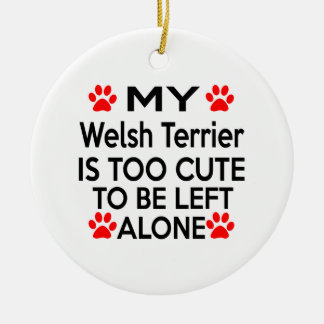 Welsh Terrier Designs Christmas Ornament