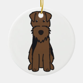 Welsh Terrier Dog Cartoon Christmas Ornament