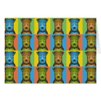 Welsh Terrier Dog Cartoon Pop-Art Card
