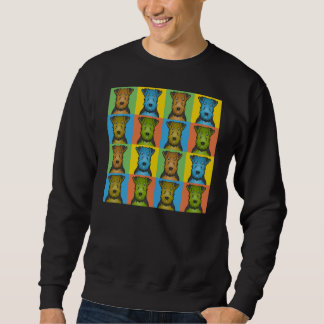 Welsh Terrier Dog Cartoon Pop-Art Sweatshirt