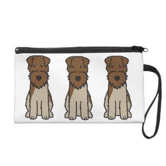 Welsh Terrier Dog Cartoon Wristlet Clutch