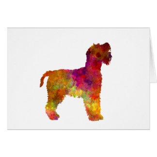 Welsh Terrier in watercolor Card