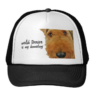 """Welsh Terrier is my Homeboy"" Trucker Hat"