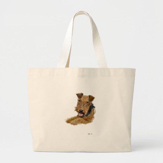 Welsh Terrier Large Tote Bag
