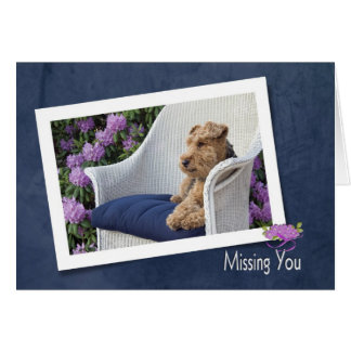 Welsh Terrier Missing You Card