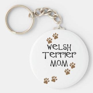 Welsh Terrier Mom for Welsh Terrier Dog Moms Basic Round Button Key Ring