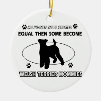 welsh Terrier Mommy Design Christmas Ornament