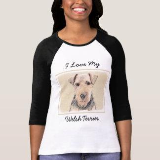 Welsh Terrier Painting - Cute Original Dog Art T-Shirt