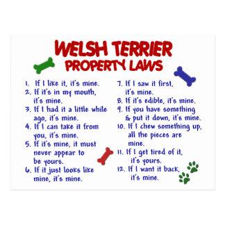 WELSH TERRIER Property Laws 2 Postcard