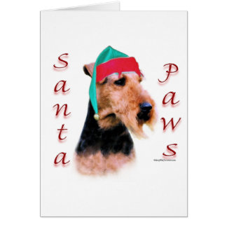 Welsh Terrier Santa Paws Card
