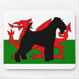 welsh terrier silhouette wales flag.png mouse mat