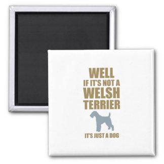 Welsh Terrier Square Magnet