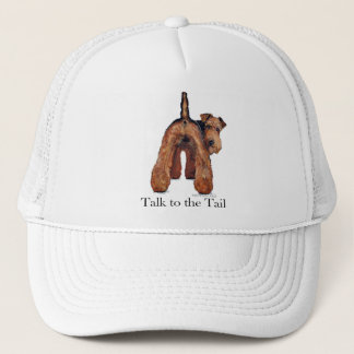 Welsh Terrier Tail Trucker Hat