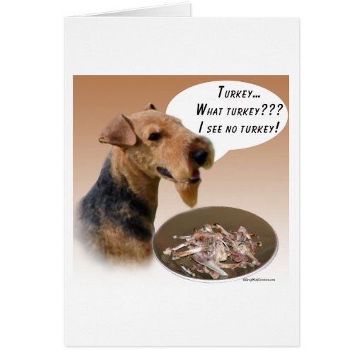 Welsh Terrier Turkey Card