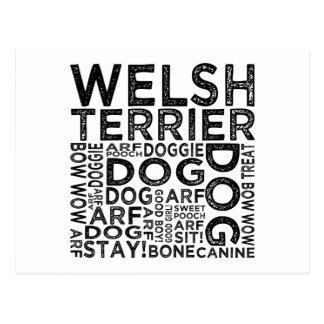 Welsh Terrier Typography Postcard