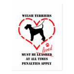 Welsh Terriers Must Be Loved Postcard
