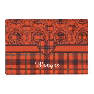 Wemyss clan Plaid Scottish tartan Laminated Place Mat