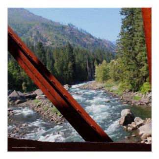 Wenatchee River from Old Penstock Pipeline Bridge