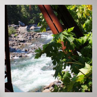 Wenatchee River from Old Penstock Pipeline Bridge Poster