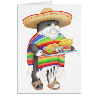 Wendelito Kitty Blank Greeting Card