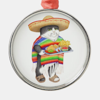 Wendelito Kitty Silver-Colored Round Decoration