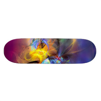 Wendy - colorful digital abstract art skate decks