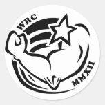 Wenis Rodeo Championships 2012 Round Sticker