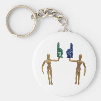 WeNumberOne082009 Basic Round Button Key Ring