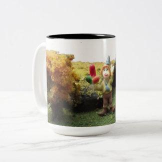 We're all clowns here Two-Tone coffee mug