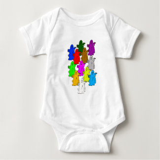 We're all different baby bodysuit