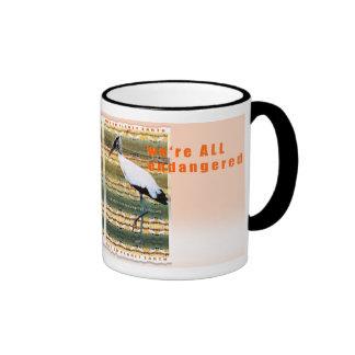 we're ALL endangered Ringer Mug