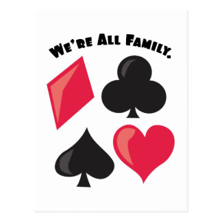 We're All Family. Postcard
