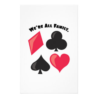 We're All Family. Stationery Design