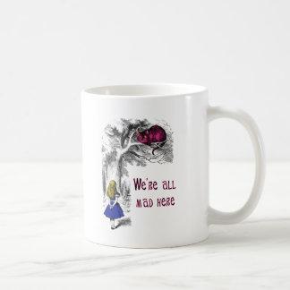 We're All Mad Here Basic White Mug