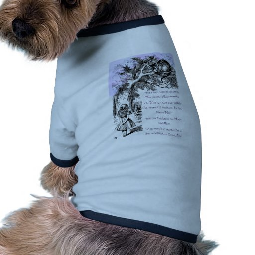 We're All Mad Here Doggie Tshirt
